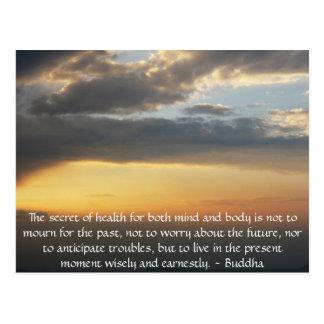 Beautiful Buddhist Quote with inspirational photo Postcard