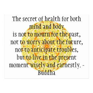 Beautiful Buddhist Quote with Vibrant Mandela Postcard