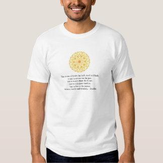 Beautiful Buddhist Quote with Vibrant Mandela Tee Shirts