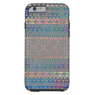 Beautiful cool colourful Aztec geometric pattern Tough iPhone 6 Case