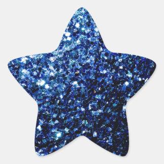 Beautiful Dark Blue sparkles Star Sticker