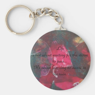Beautiful design, inspirational quote keychain