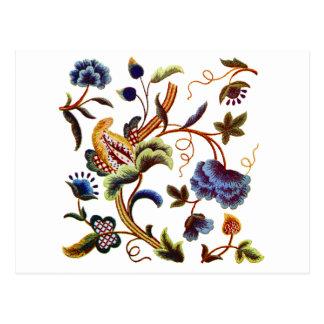 Beautiful Elizabethan Jacobean Embroidery Postcard