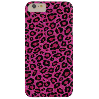 Beautiful hot pink leopard skin glitter shine barely there iPhone 6 plus case