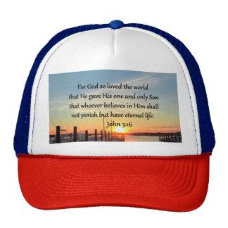 BEAUTIFUL JOHN 3:16 SUNSET PHOTO DESIGN CAP
