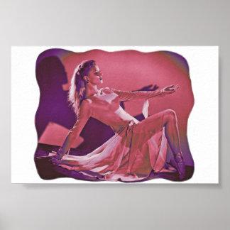 Beautiful Modern Dancer Poster Unusual Colors
