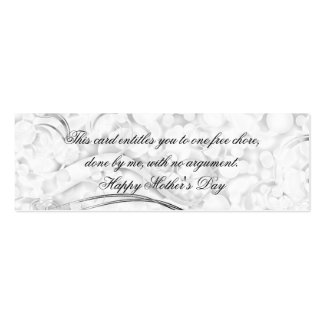 Beautiful Mother's Day Frills Pack Of Skinny Business Cards