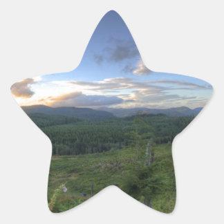 Beautiful Oregon Sunset Star Sticker