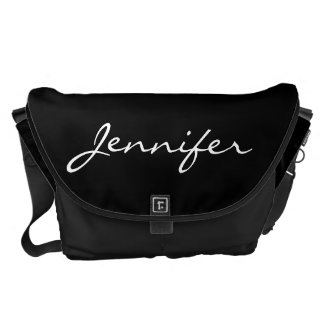 Beautiful pelicans reflection custom girls name courier bags