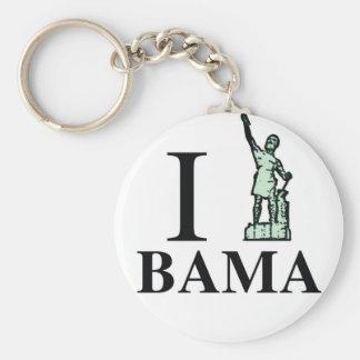 Beautiful Products|Alabama Pride Basic Round Button Key Ring