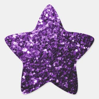 Beautiful Purple glitter sparkles Star Sticker