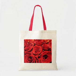 Beautiful Red Roses Budget Tote Bag