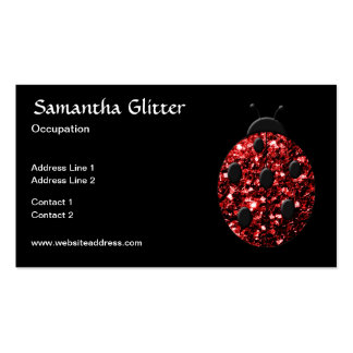 Beautiful Sparkling red sparkles Ladybird Ladybug Pack Of Standard Business Cards