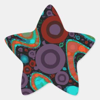 Beautiful Vibrant Swirly Abstract Pattern Star Sticker