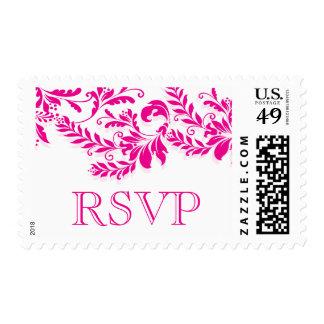 Beautiful Vintage Damask Leaf RSVP Postage Stamp