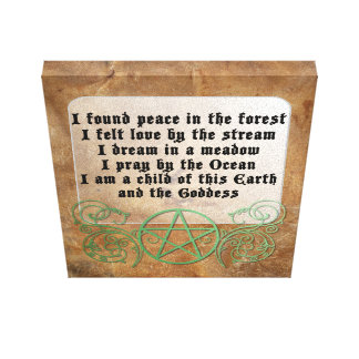 Beautiful Wiccan poem Gallery Wrapped Canvas