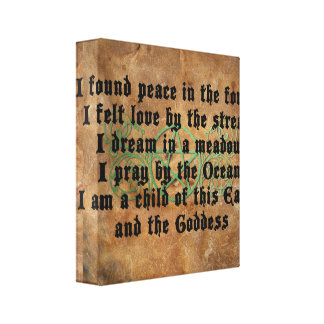 Beautiful Wiccan Poem Stretched Canvas Print