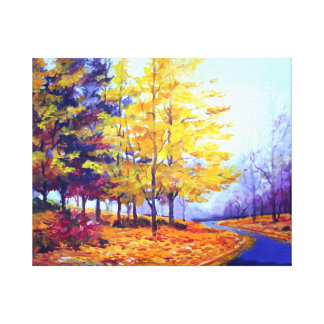 BEAUTY OF AUTUMN FOREST-ACRYLIC PAINTING GALLERY WRAPPED CANVAS