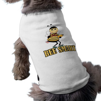 bee smart bumble bee with pencil sleeveless dog shirt
