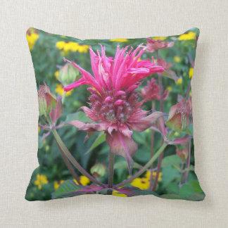 Beebalm Flower Pillow Cushion