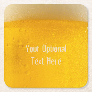 BEER custom coasters Square Paper Coaster