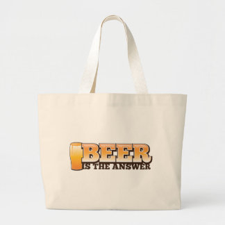BEER IS THE ANSWER The Beer Shop design Jumbo Tote Bag