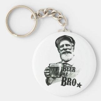 Beer me Bro. Basic Round Button Key Ring