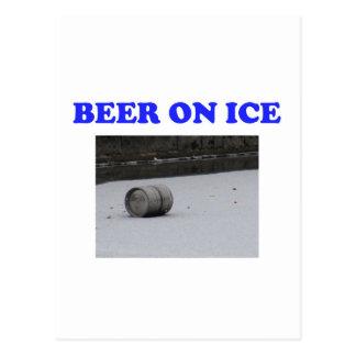 Beer on ice postcard
