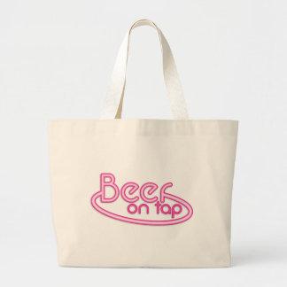 Beer on TAP fluro Jumbo Tote Bag