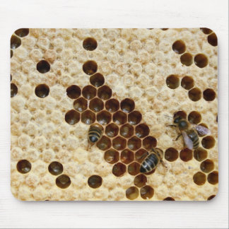 Bees On Honey Comb Mouse Pad