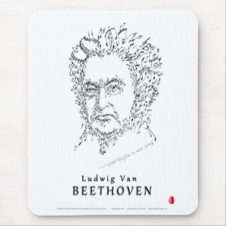 Beethoven Face the Music Mouse Pad