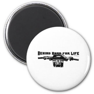 Behind Bars For Life – Motocross 6 Cm Round Magnet