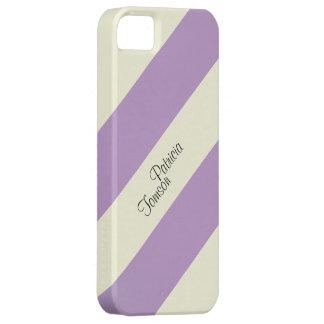 Beige & Violet Color Combination. Custom Name SE iPhone 5 Cover