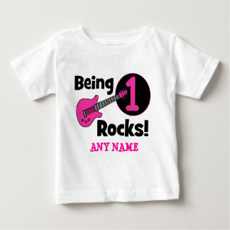 Being 1 Rocks! with Pink Guitar T Shirts