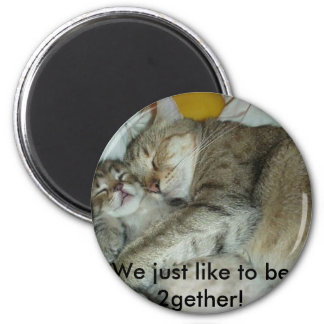 Being together 6 cm round magnet