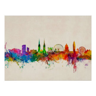 Belfast Northern Ireland Skyline Poster