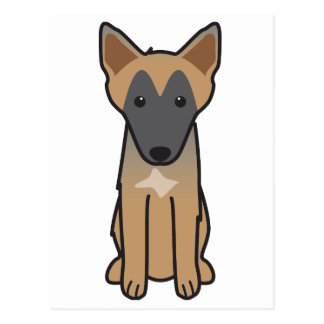 Belgian Malinois Dog Cartoon Postcard