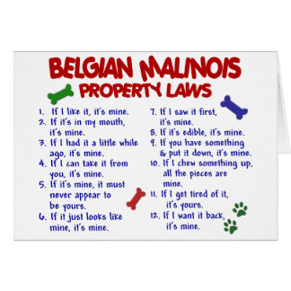 BELGIAN MALINOIS PL2 GREETING CARD