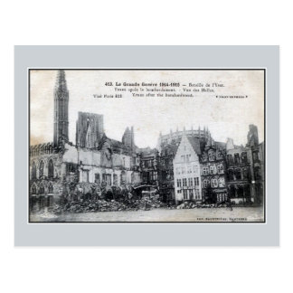 Belgium Ypres after the bombardment Postcard