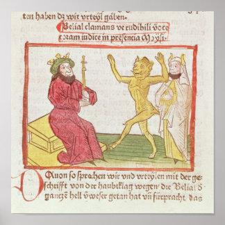 Belial dances before King Solomon Poster