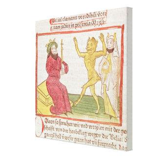 Belial dances before King Solomon Stretched Canvas Print