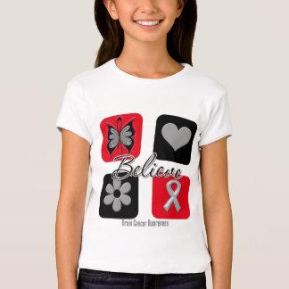 Believe Inspirations Brain Cancer T Shirt