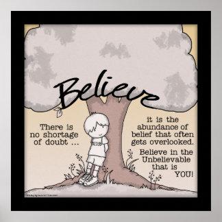 Believe Tree Poster