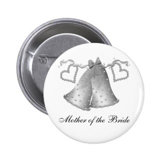 Bells and Hearts Mother of the Bride 6 Cm Round Badge