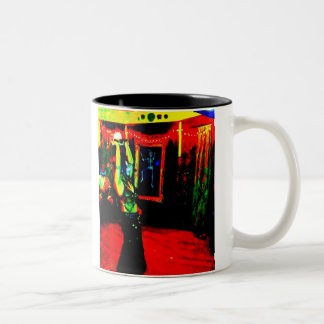 Belly Dancer with Fire Two-Tone Mug