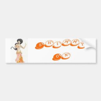 bellydancer (2), Shimmy On Bumper Sticker