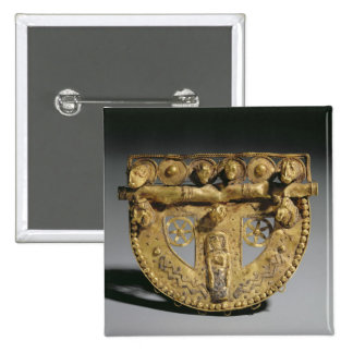Belt-buckle with granulated decoration, Orientaliz 15 Cm Square Badge