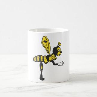 Bending bee basic white mug