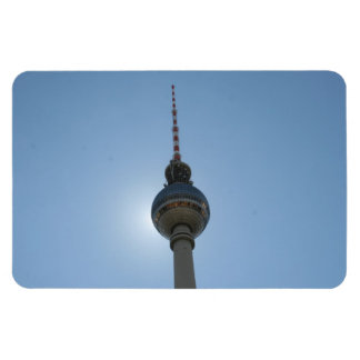berlin tower globe rectangular photo magnet