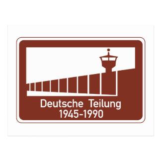 Berlin Wall 1945-1990, Berlin Wall, Germany Sign Postcard